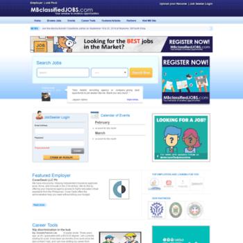 mbclassifiedjobs com at WI  MB Classified Jobs: Job Hiring