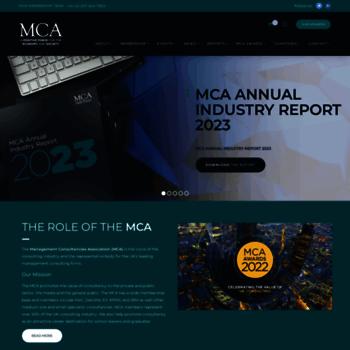 mca org uk at Website Informer  MCA  Visit MCA