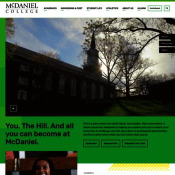 Mcdaniel.edu thumbnail