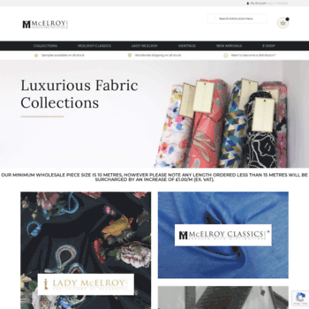 Mcelroyfabrics.co.uk thumbnail