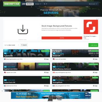 mcpestats com at WI  Minecraft PE Servers | Minecraft Hub