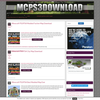 mcps3download.com at WI. Minecraft PS3/PS4 Modded Faction Map Download
