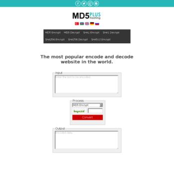 md5plus com at WI  MD5, MD5 Online, MD5 Decrypt, MD5 Generator, MD5