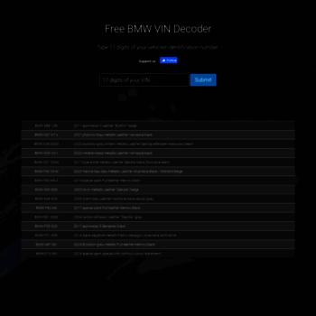 mdecoder com at WI  Free BMW VIN Decoder : ///M Decoder