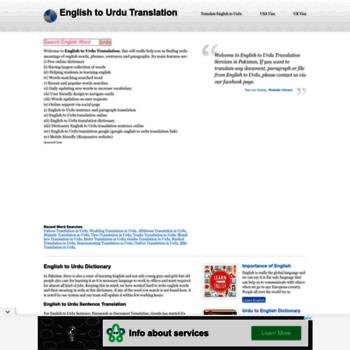 meaninginurdu com at WI  Meaning In Urdu ( English To Urdu