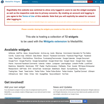 mediawikiwidgets org at WI  MediaWiki Widgets