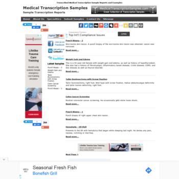 Medicaltranscriptionsamples At WI Medical Transcription Samples