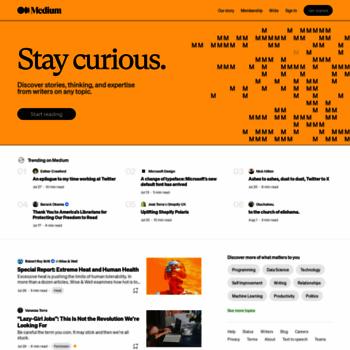 Веб сайт medium.com