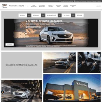 Medvedcadillac Com At Wi Medved Cadillac Dealership Wheat Ridge