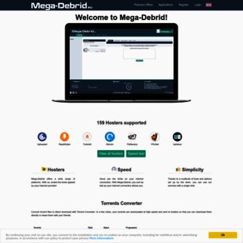 mega-debrid eu at WI  Mega-Debrid : Premium link generator