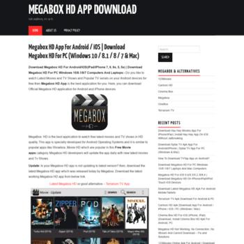 megaboxhdappdownload com at WI  [Latest*] Megabox HD App