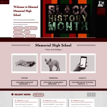 Memorial.edmondschools.net thumbnail