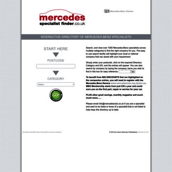 Mercedesspecialistfinder.co.uk thumbnail