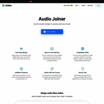 mergeaudio online at WI  Audio Joiner — Merge Songs Online