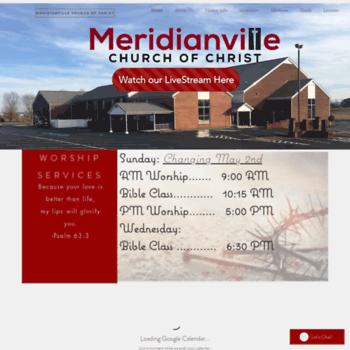 Meridianvillechurchofchrist.org thumbnail