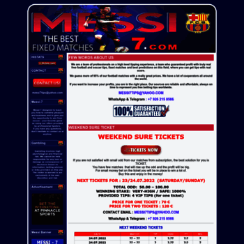 messi-7 com at WI  BEST FIXED MATCHES 100% SURE - Free