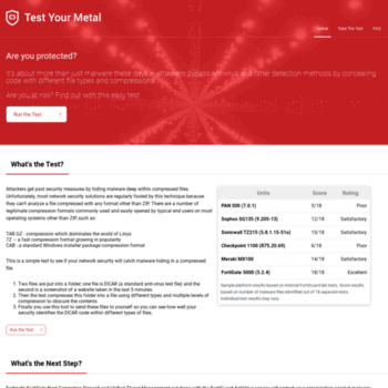 metal fortiguard com at WI  Home - Test Your Metal by Fortinet
