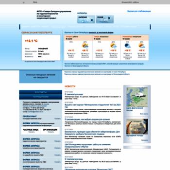 Веб сайт meteo.nw.ru