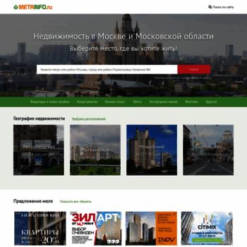 Веб сайт metrinfo.ru