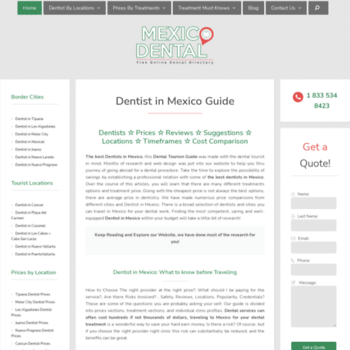 mexicodental co at WI  Mexico Dentist Guide, Directory of All