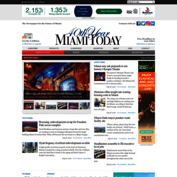 miamitodaynews com at WI  Miami Today - The Newspaper for