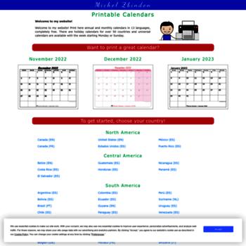 Calendario Michel Zbinden.Michelzbinden Com At Wi Free Printable Calendars In 10 Languages