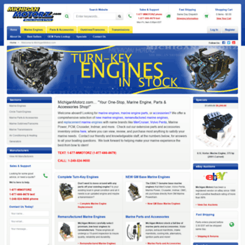 michiganmotorz com at WI  New and Remanufactured Marine Engines