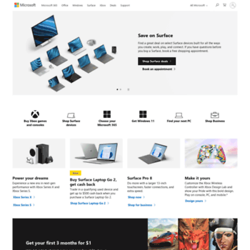 Microsoft.com thumbnail