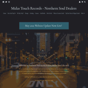 midastouchsoul co uk at WI  Northern Soul Dealer   Northern