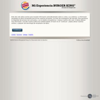 Miexperienciabkespanacom At Wi Mi Experiencia Con Bk Bienvenido