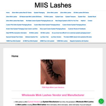 miislashes com at WI  Wholesale Mink Lashes-Mink Strip Lashes Vendor