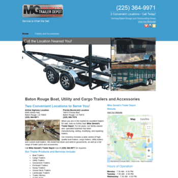 Trailers And Hitches >> Mikegeraldstrailer Depot Com At Wi Baton Rouge Trailers And