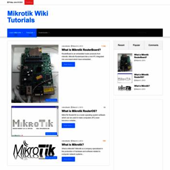 mikrotikwiki com at WI  Mikrotik Wiki Tutorials - Tutorials for