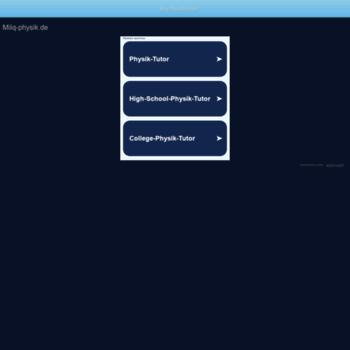 Milq-physik.de thumbnail