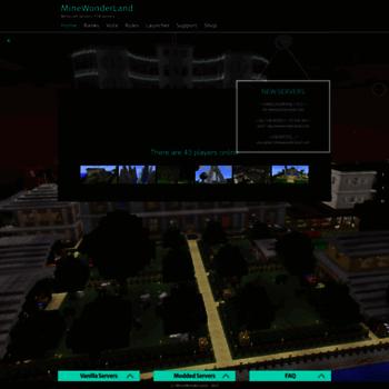 minewonderland com at WI  MineWonderLand – Minecraft Servers