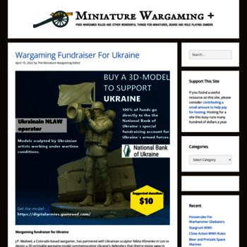 miniaturewargaming com at WI  Miniature Wargaming + Gaming Blog