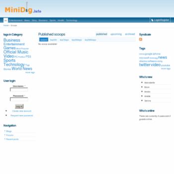 Minidig.info thumbnail