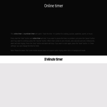 minute-timer com at WI  Minute timer ⏰ online countdown timer with