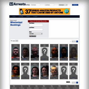 Mississippi.arrests.org thumbnail