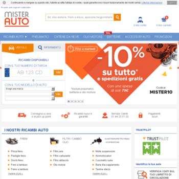 informazioni per a1f39 8b8fc mister-auto.it at WI. Ricambi Auto Online: Qualità e ...