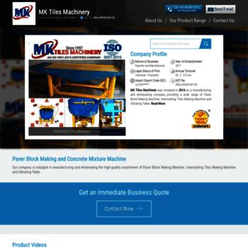 Mktilesmachinery.in thumbnail
