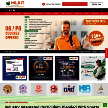 Mlrit.ac.in thumbnail