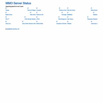 mmoserverstatus com at WI  MMO Server Status