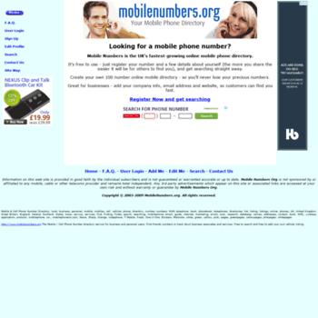 Mobilenumbers.org thumbnail