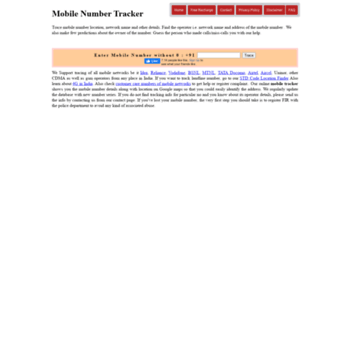 mobilenumbertracker co in at WI  Mobile Number Tracker
