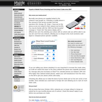 Mobileunlock.co.uk thumbnail