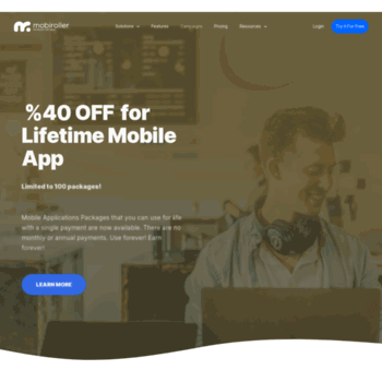 mobiroller com at WI  Android & iOS App Maker | Free App Maker | App