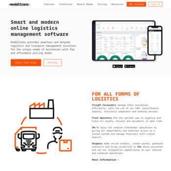 modaltrans com at WI  Logistics & Transportation Management