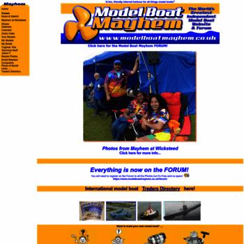 Modelboatmayhem.co.uk thumbnail