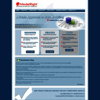 Modelright Com At Wi Best Database Design Tool Er Diagrams